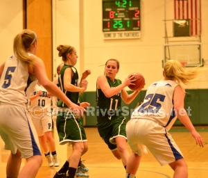 Sunapee senior Erika Waterman drives to the basket during the Division IV title game March 8 against Hinsdale.