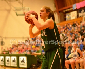 Sunapee senior Maddy Fowler looks to shoot during the Division IV title game March 8.